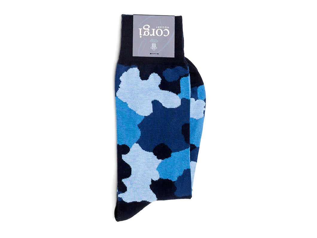 Camouflage Socks Black Blue