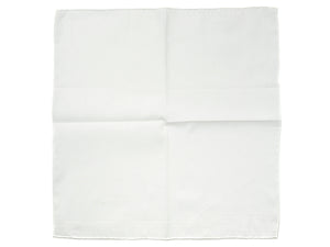 White Linen-Cotton Pochette with White Edge