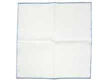 Load image into Gallery viewer, White Linen-Cotton Pochette with Blue Edge