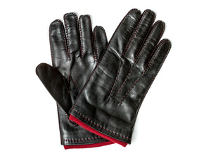 Cashmere Lined Hairsheep Leather Glove Black
