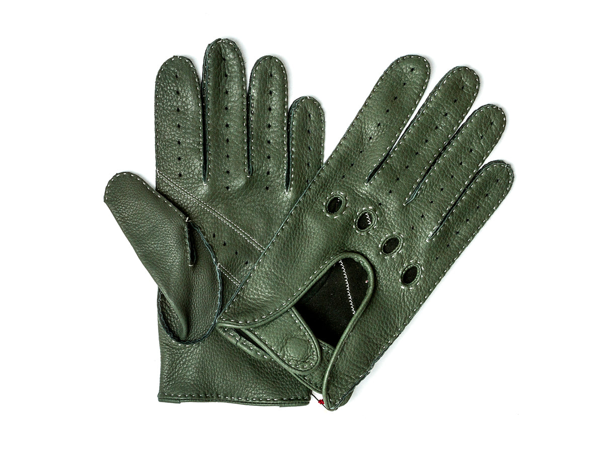Deerskin Driving Glove Green