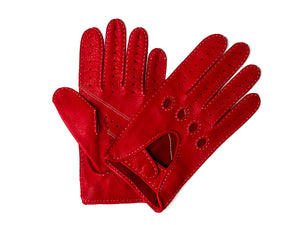 Deerskin Driving Glove Red
