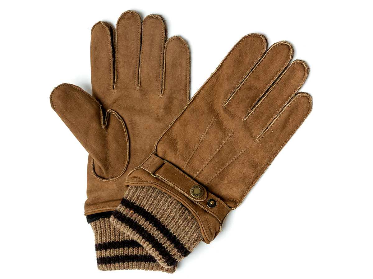 Knit Lined Nubuck Glove Tobacco