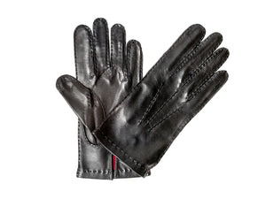Silk Lined Hairsheep Leather Glove Black