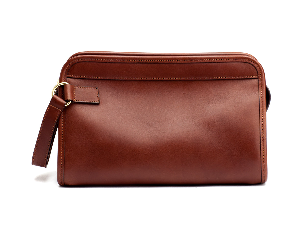 Travel Kit Large Chestnut Tumbled Leather