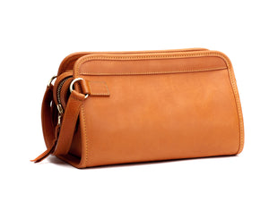 Travel Kit Large Tan Tumbled Leather