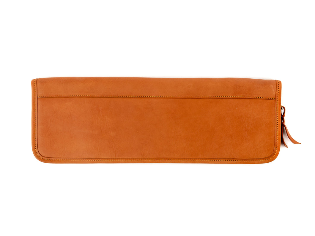 Tie Case Tan Tumbled Leather