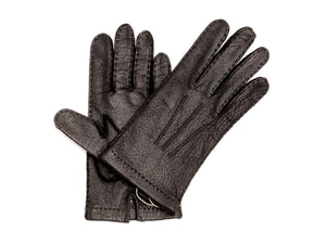 Unlined Pecary Gloves Black