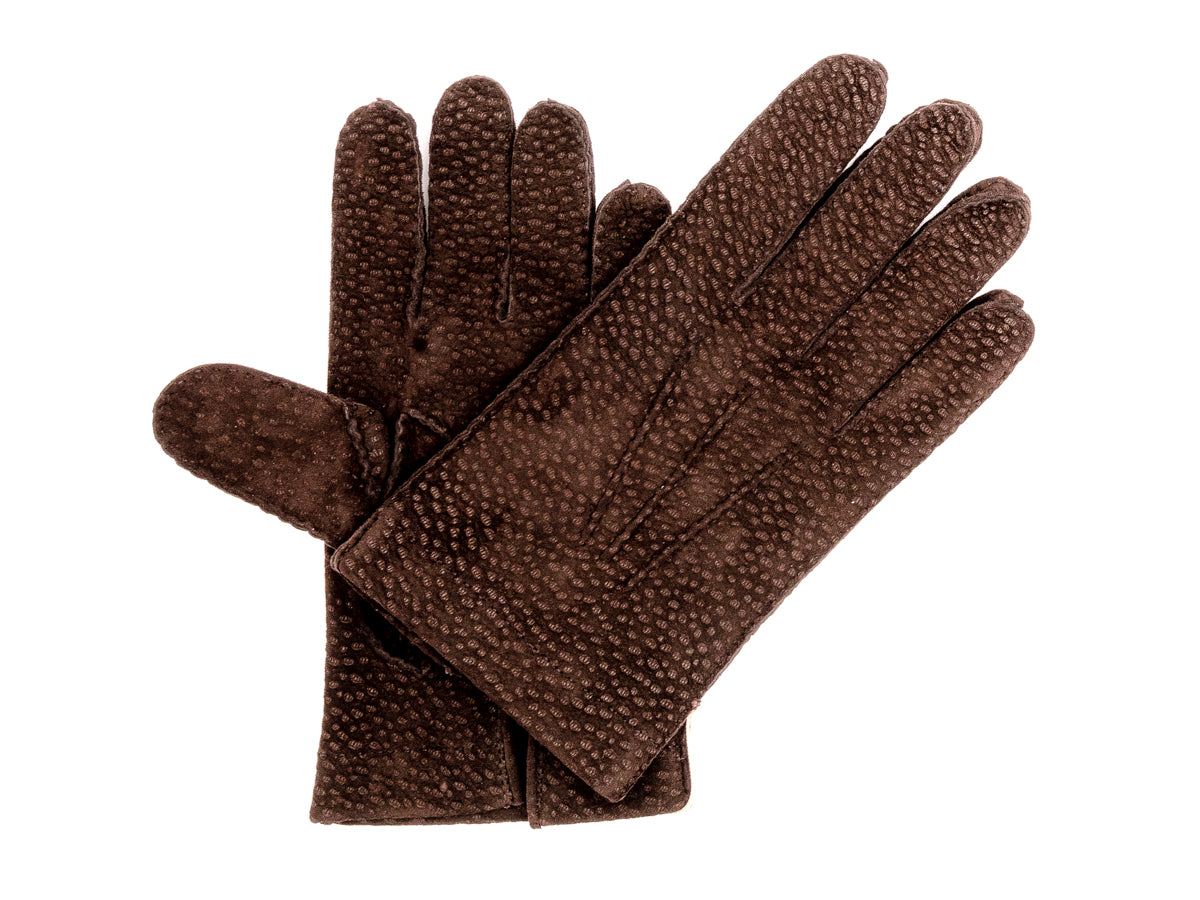 Unlined Carpincho Gloves Dark Brown