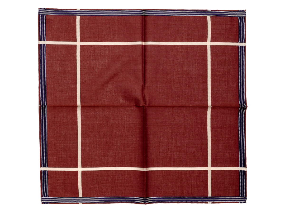 Burgundy Socotra Pocket Square