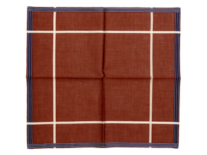 Tobacco Socotra Pocket Square