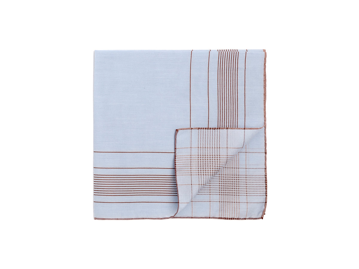 Light Blue-Brown Harlan Pocket Square