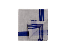 Load image into Gallery viewer, Grey-Navy Adelie Pocket Square