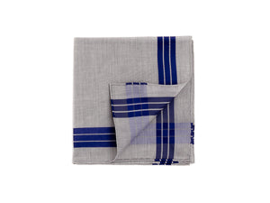 Grey-Navy Adelie Pocket Square