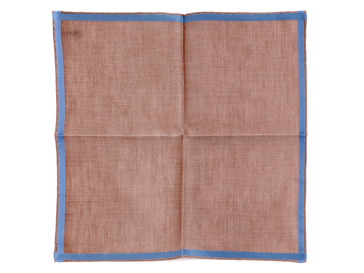 Brown-Light Blue Amalfi Pocket Square