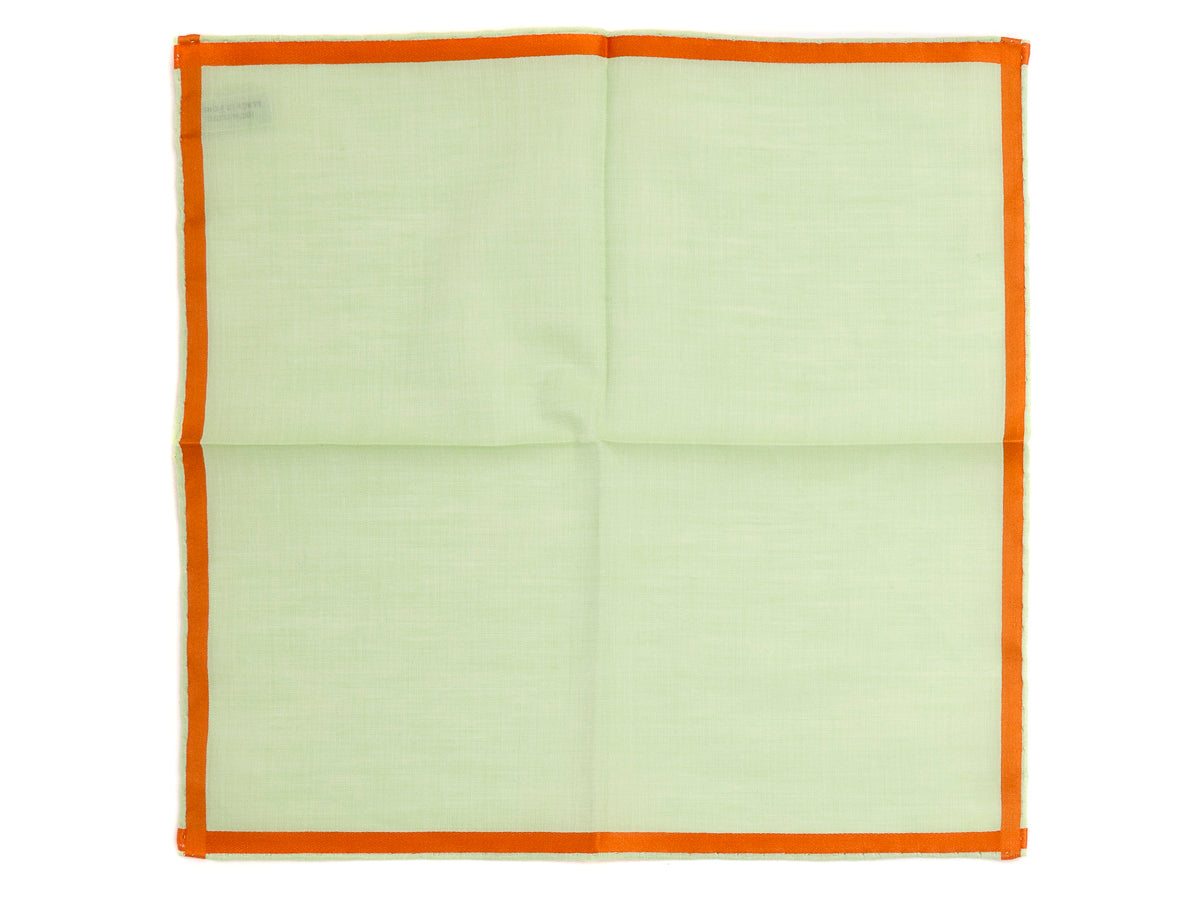 Green-Orange Amalfi Pocket Square