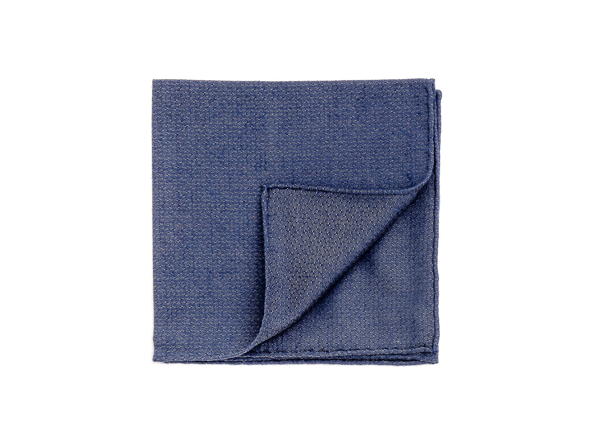 Blue Diams Pocket Square