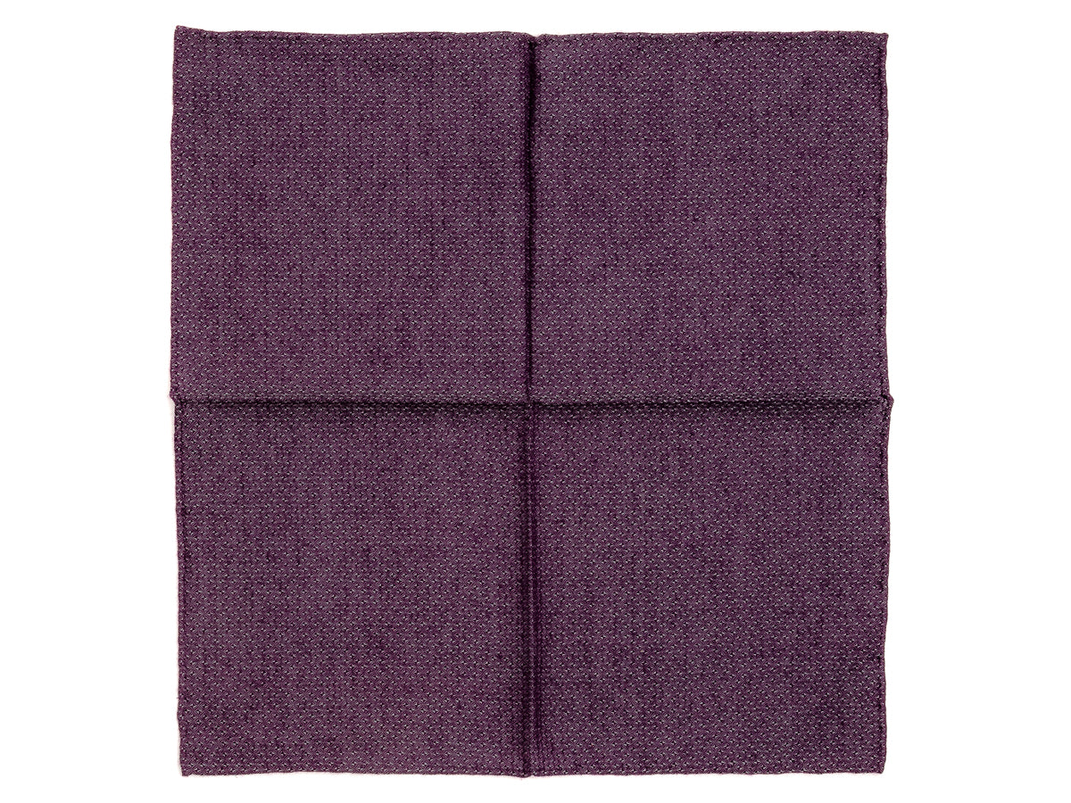 Purple Diams Pocket Square