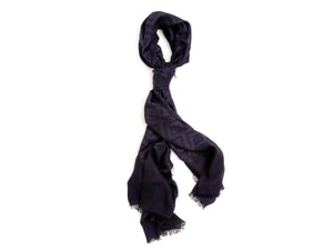 Scarf Diamond Pattern Navy