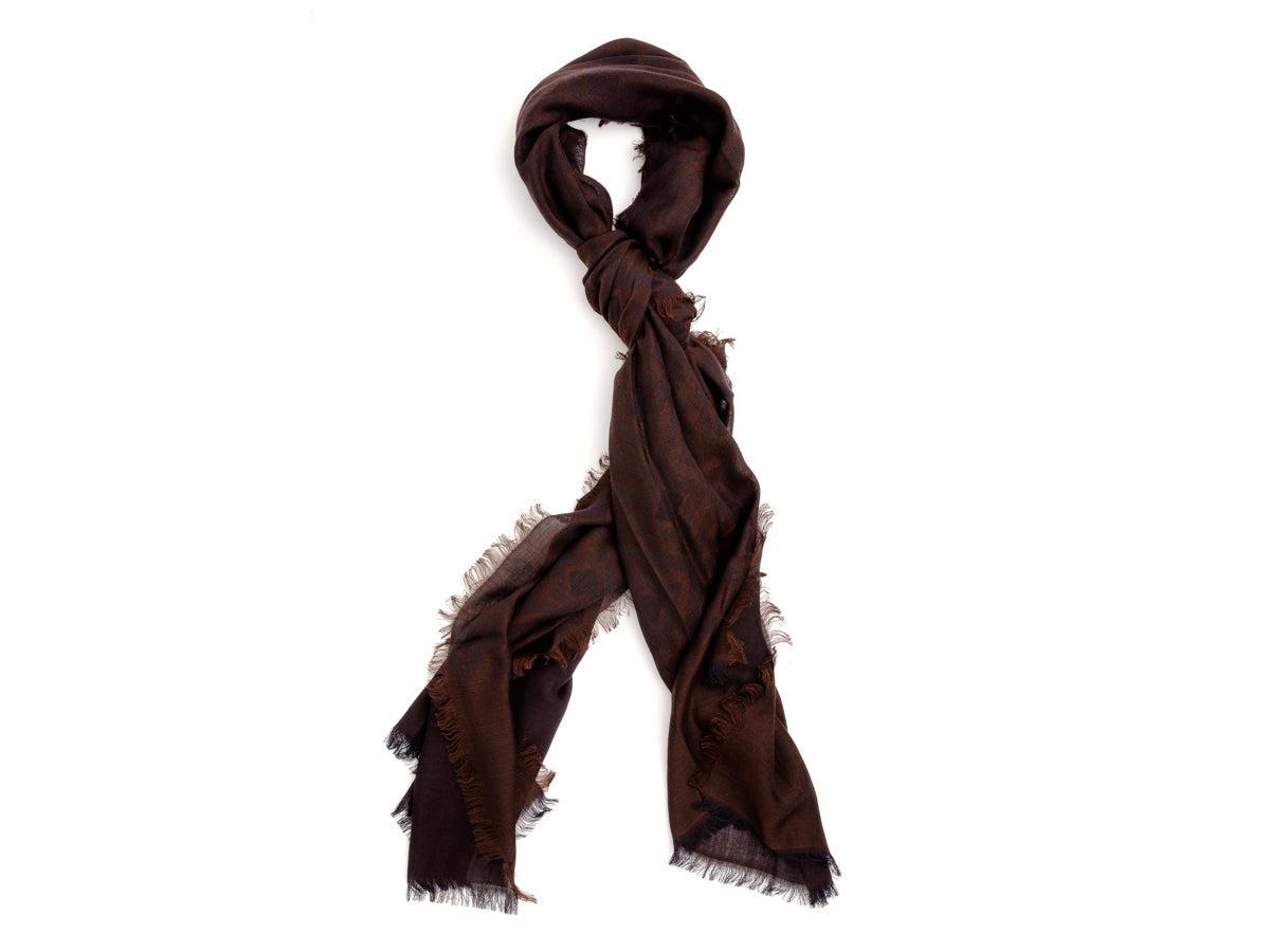 Scarf Diamond Pattern Brown