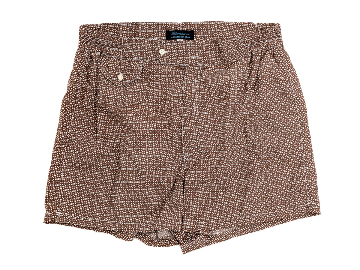 Swimming Trunks Floral Brown