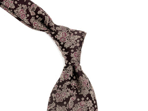 Jacquard Silk Tie Butterflies Purple