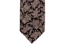 Load image into Gallery viewer, Jacquard Silk Tie Butterflies Purple