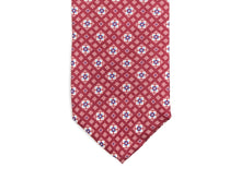 Load image into Gallery viewer, Fine Silk Tie Square Motif Red