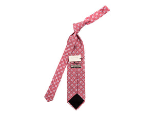 Fine Silk Tie Square Motif Red