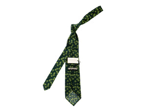 Cotton Floral Tie Green