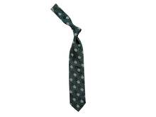 Load image into Gallery viewer, Silk Nine Dot Motif Tie Green