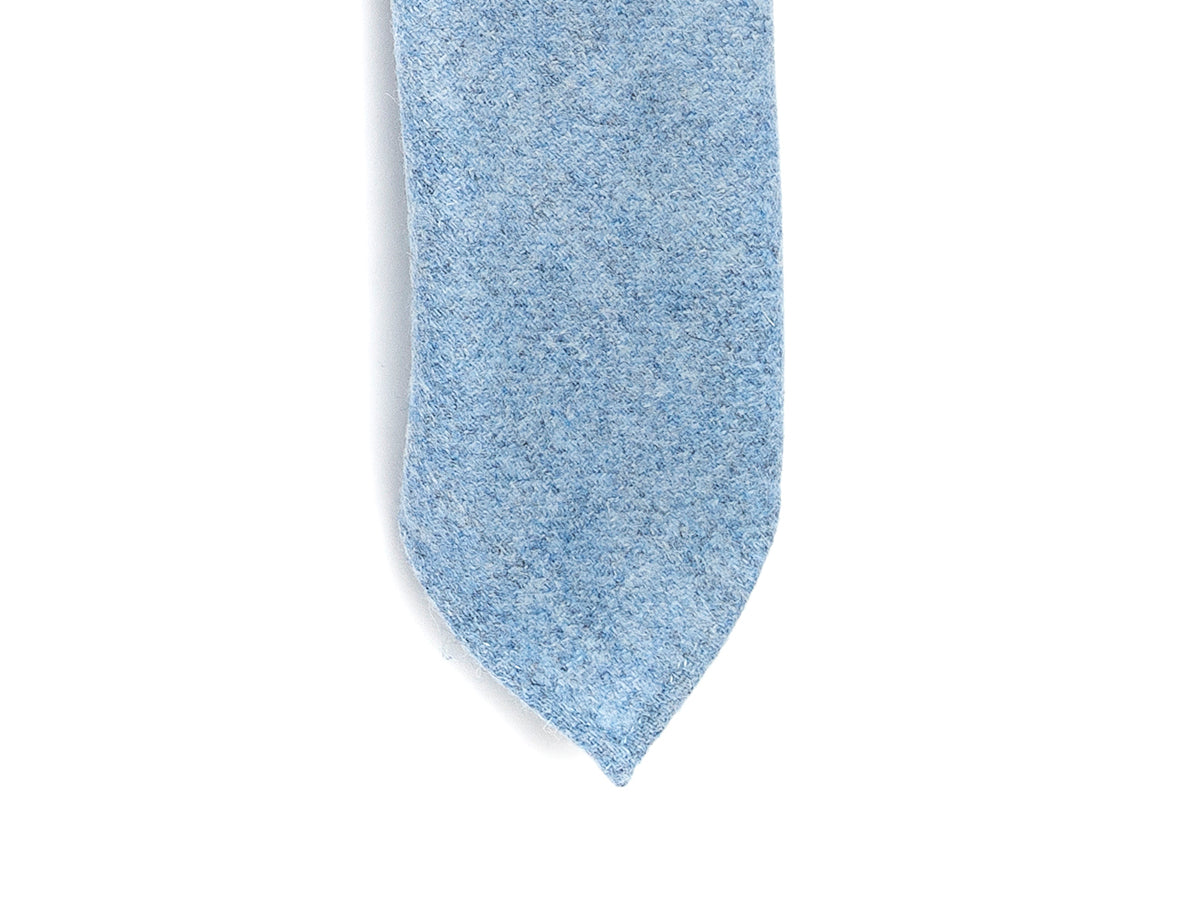 Wool Herringbone Tie Light Blue