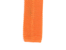 Load image into Gallery viewer, Silk Knit Tie Orange