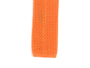 Silk Knit Tie Orange