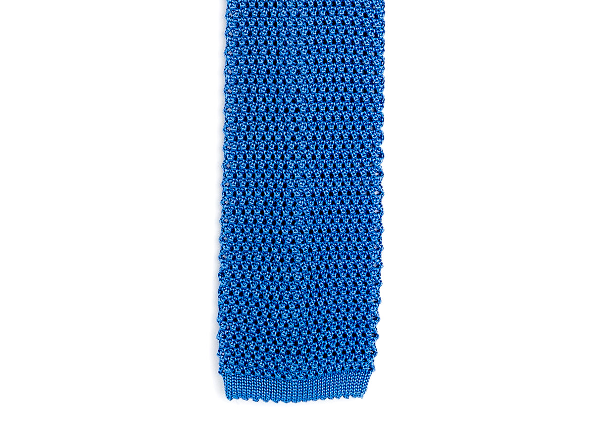 Silk Knit Tie Royal Blue