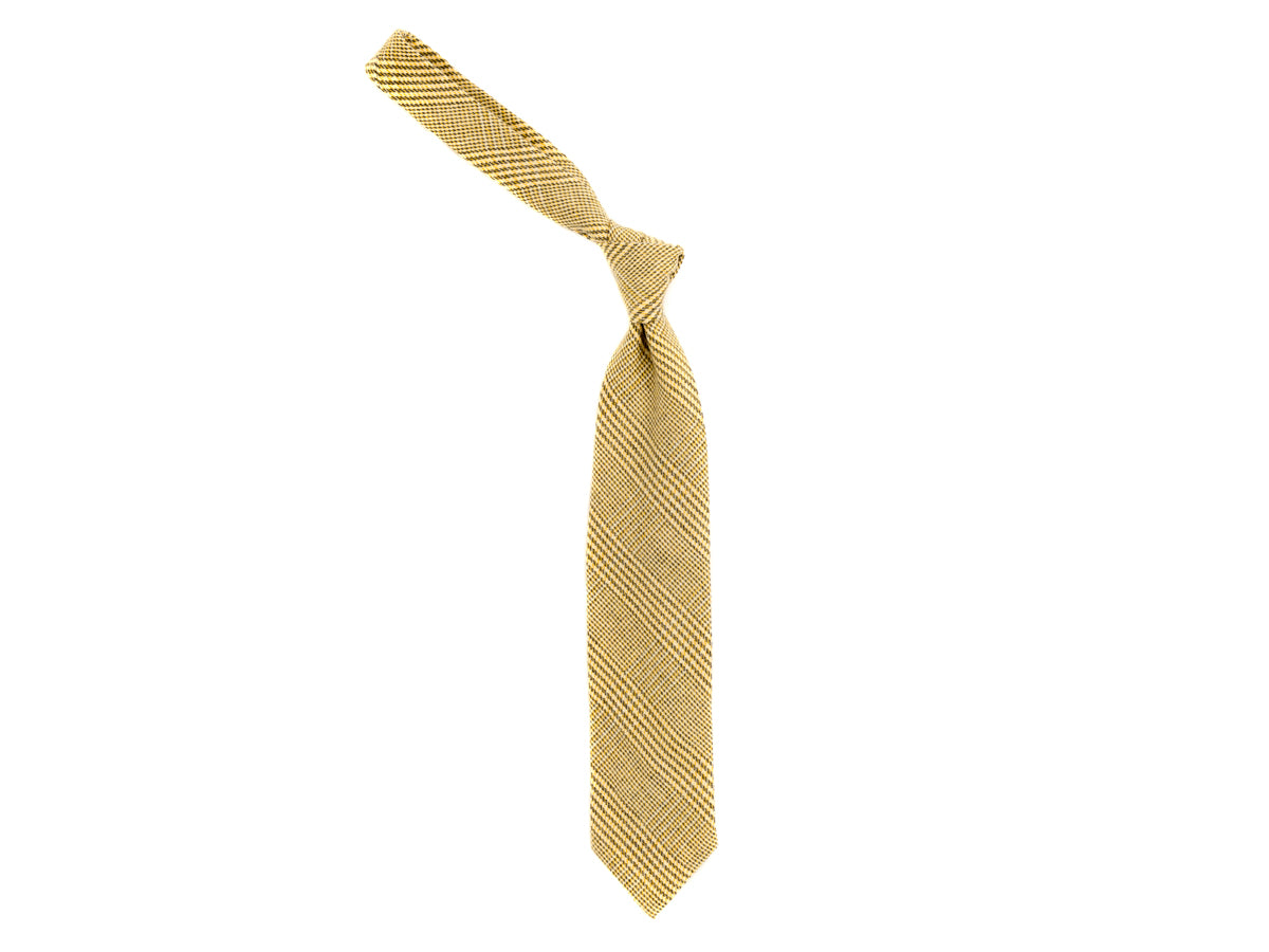 Wool Cashmere Tie Check Light Green