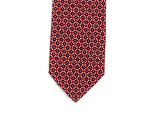 Load image into Gallery viewer, Silk Tie Cross Diamond Navy Red