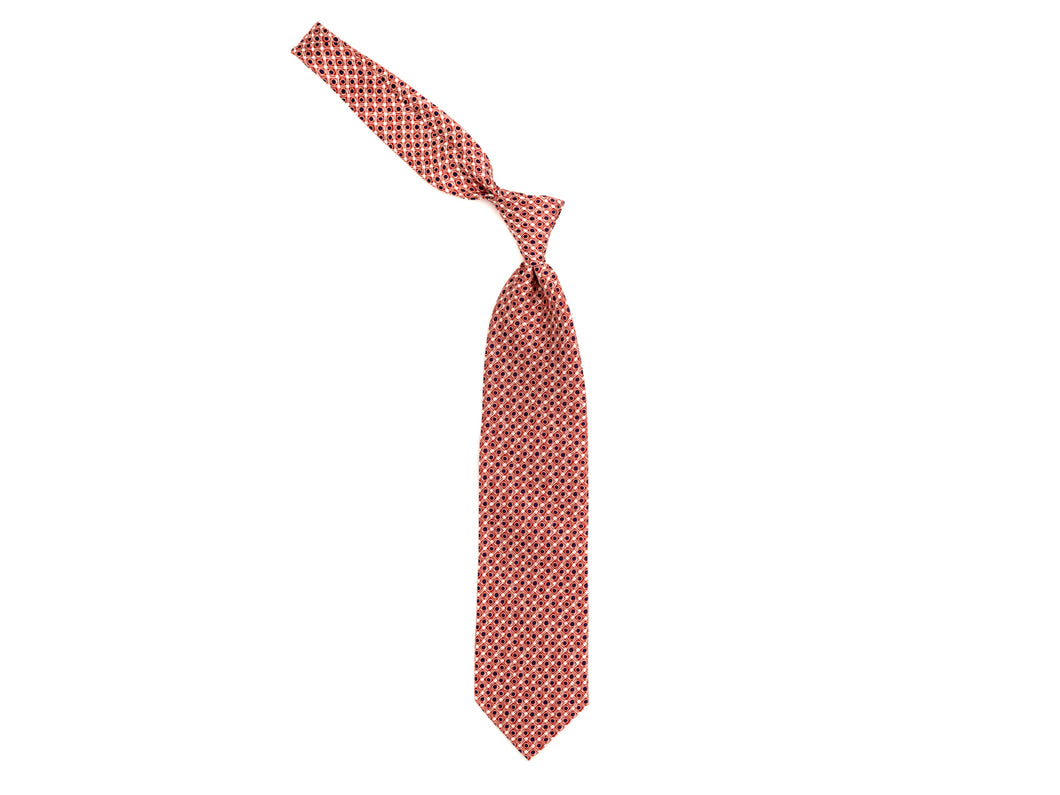Silk Tie Retro Circle Red