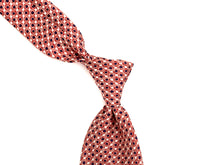 Load image into Gallery viewer, Silk Tie Retro Circle Red