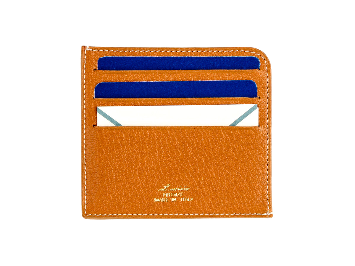 Card Wallet Four Slot Blue