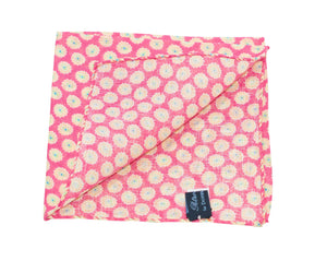 Cotton Pocket Square Small Flower Pink