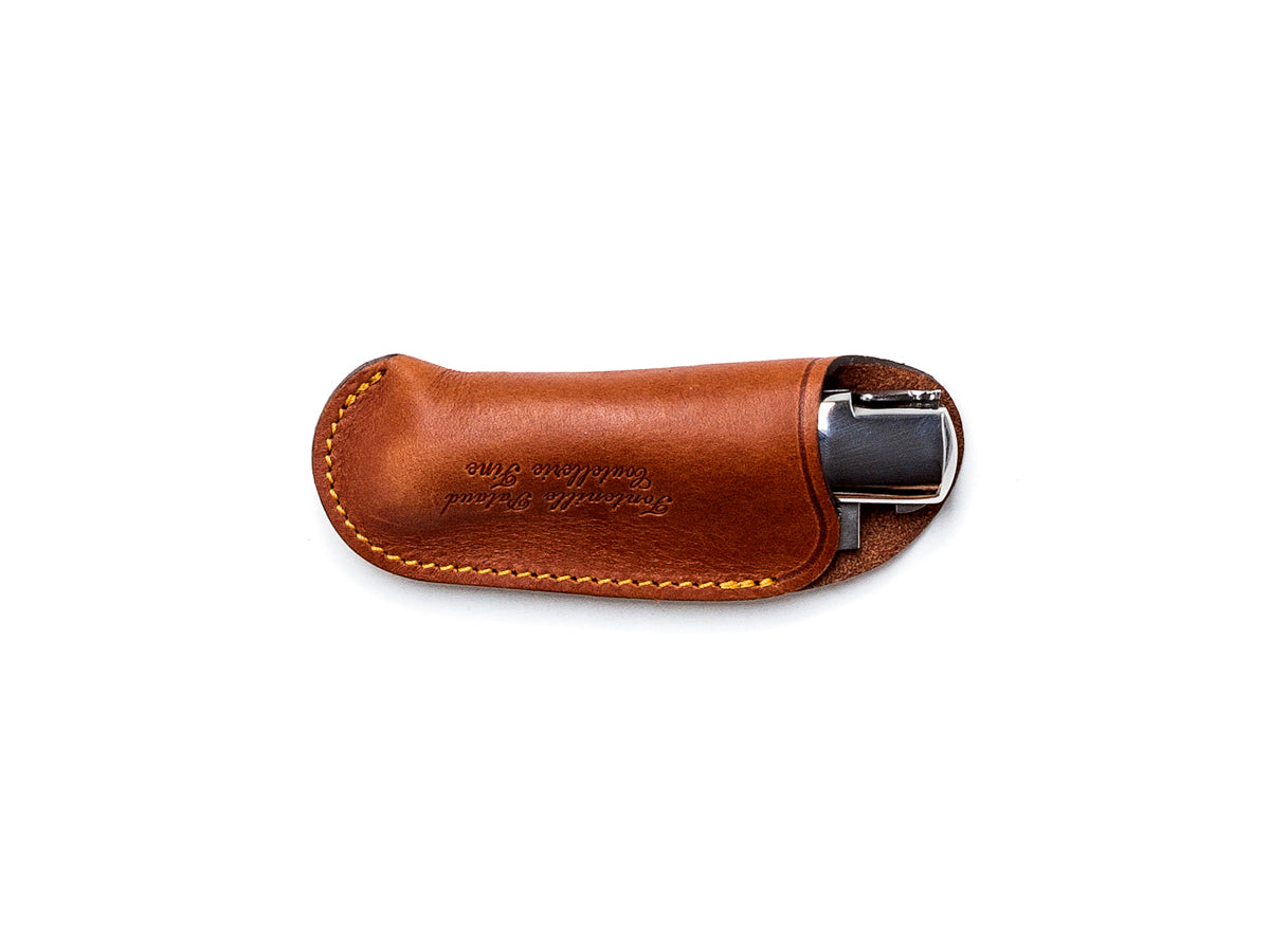Leather Pouch for Gentleman Brown