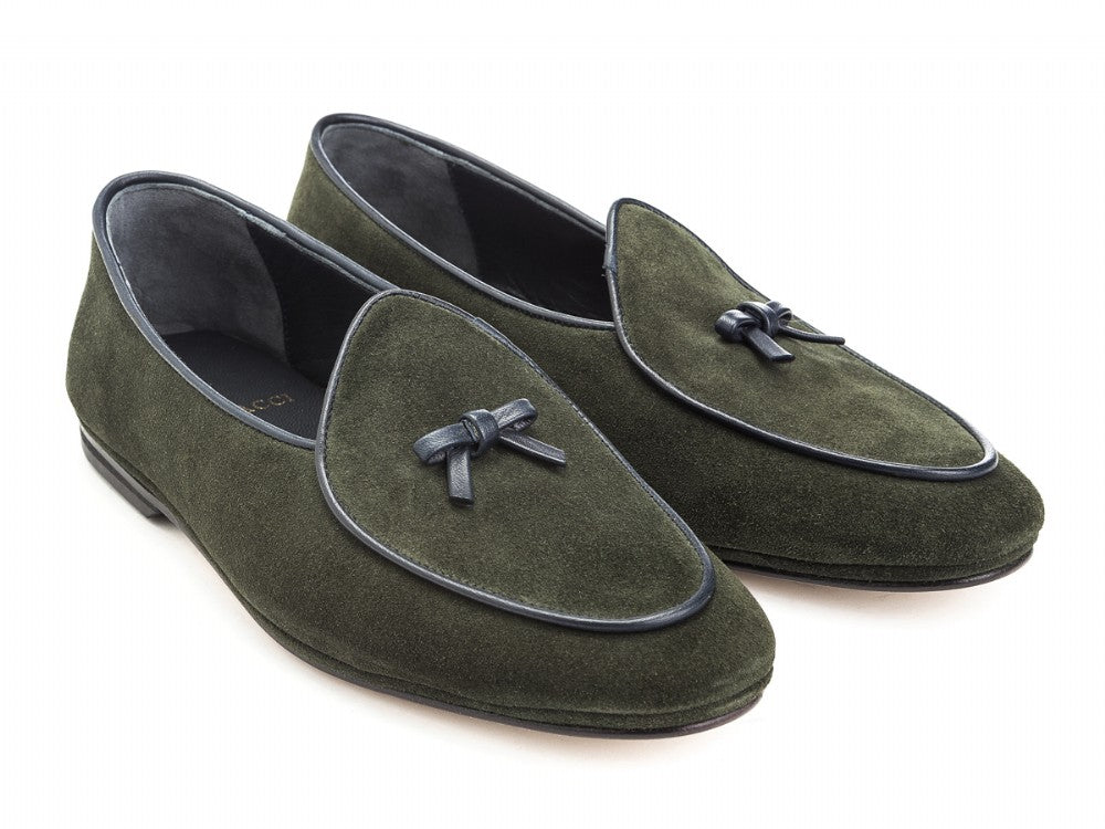 Marphy Loafer Green Velour