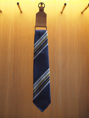 Silk Tie Repp Multi-Stripe Navy