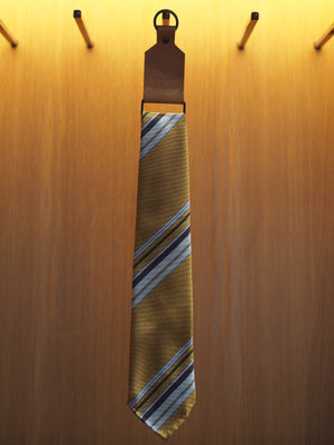 Silk Tie Repp Multi-Stripe Yellow