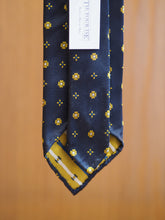 Load image into Gallery viewer, Jacquard Silk Tie Cross Flower Yellow