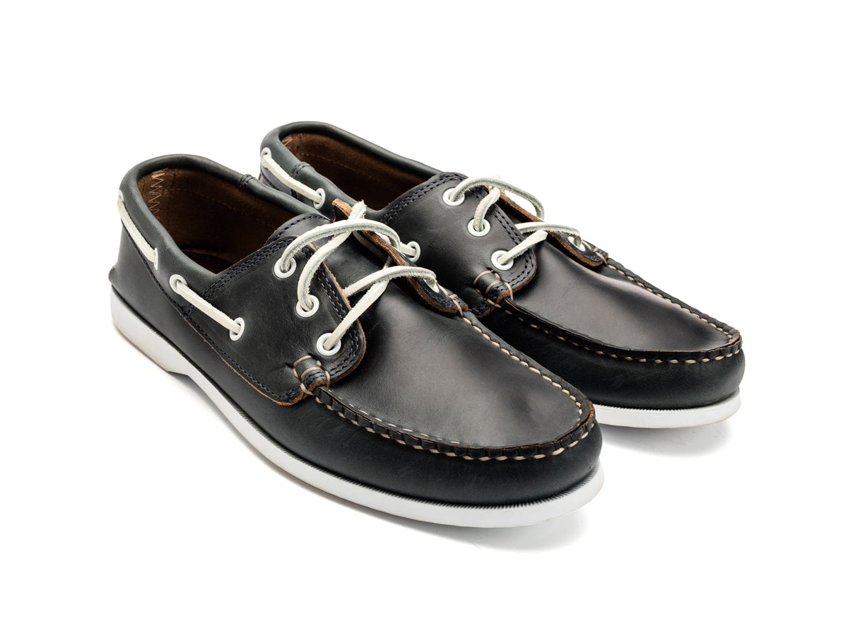 Classic Boat Shoe Unlined Navy Chromexcel