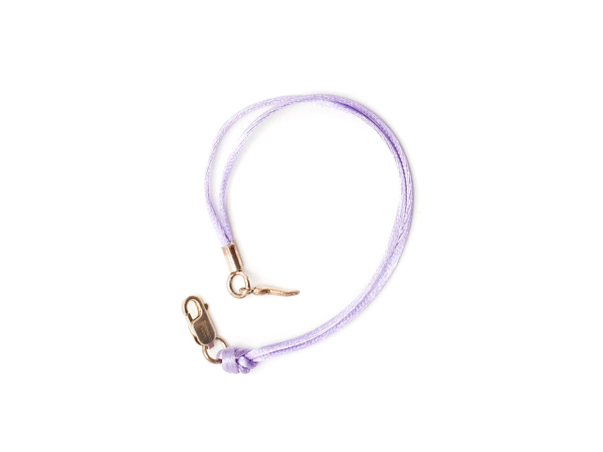 Silk Bracelet with Lucky Chilli Lilac