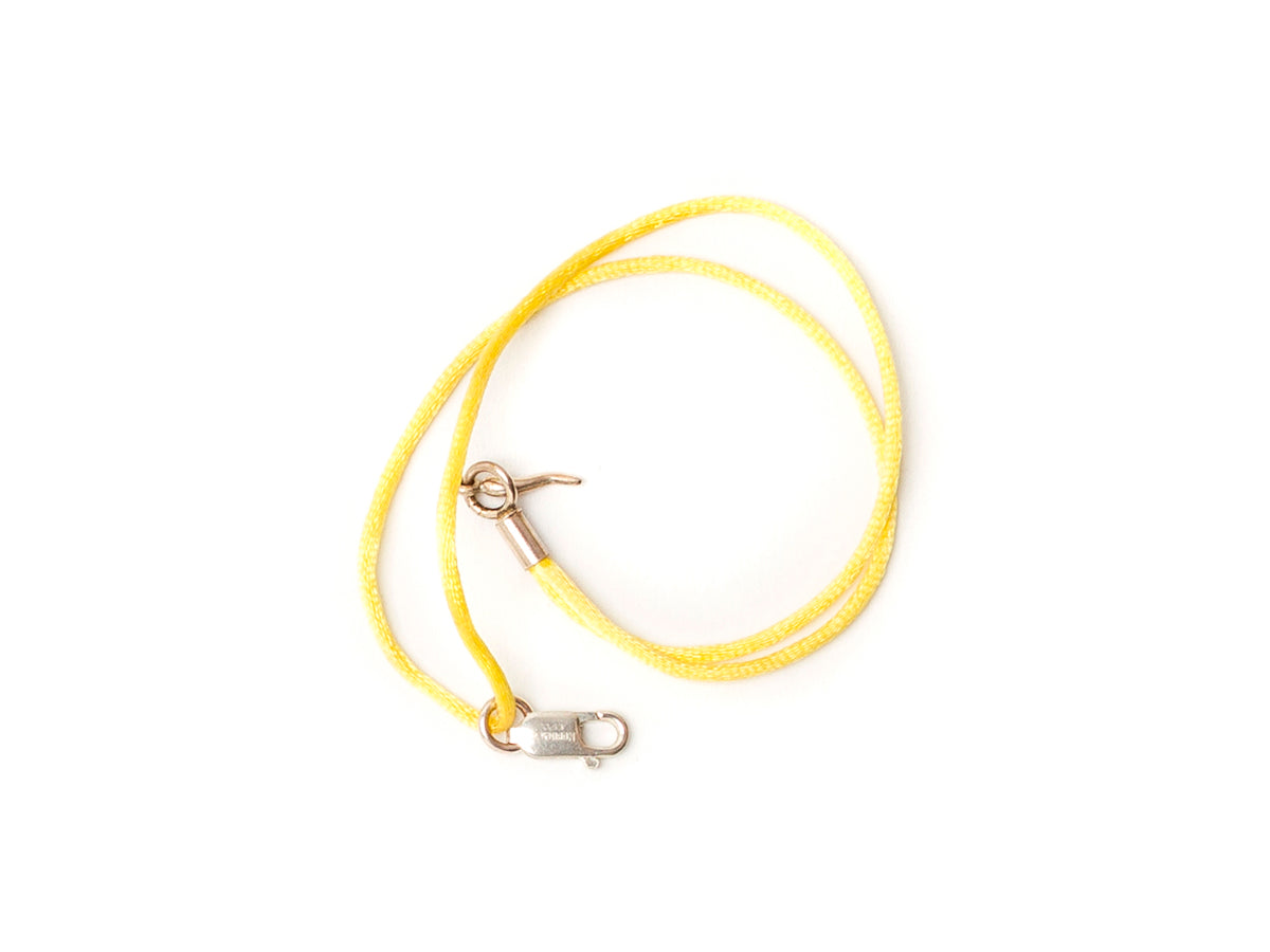 Silk Bracelet with Lucky Chilli Yellow