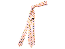 Load image into Gallery viewer, Unlined Seven Fold Silk Tie Small Petal Flower Pink